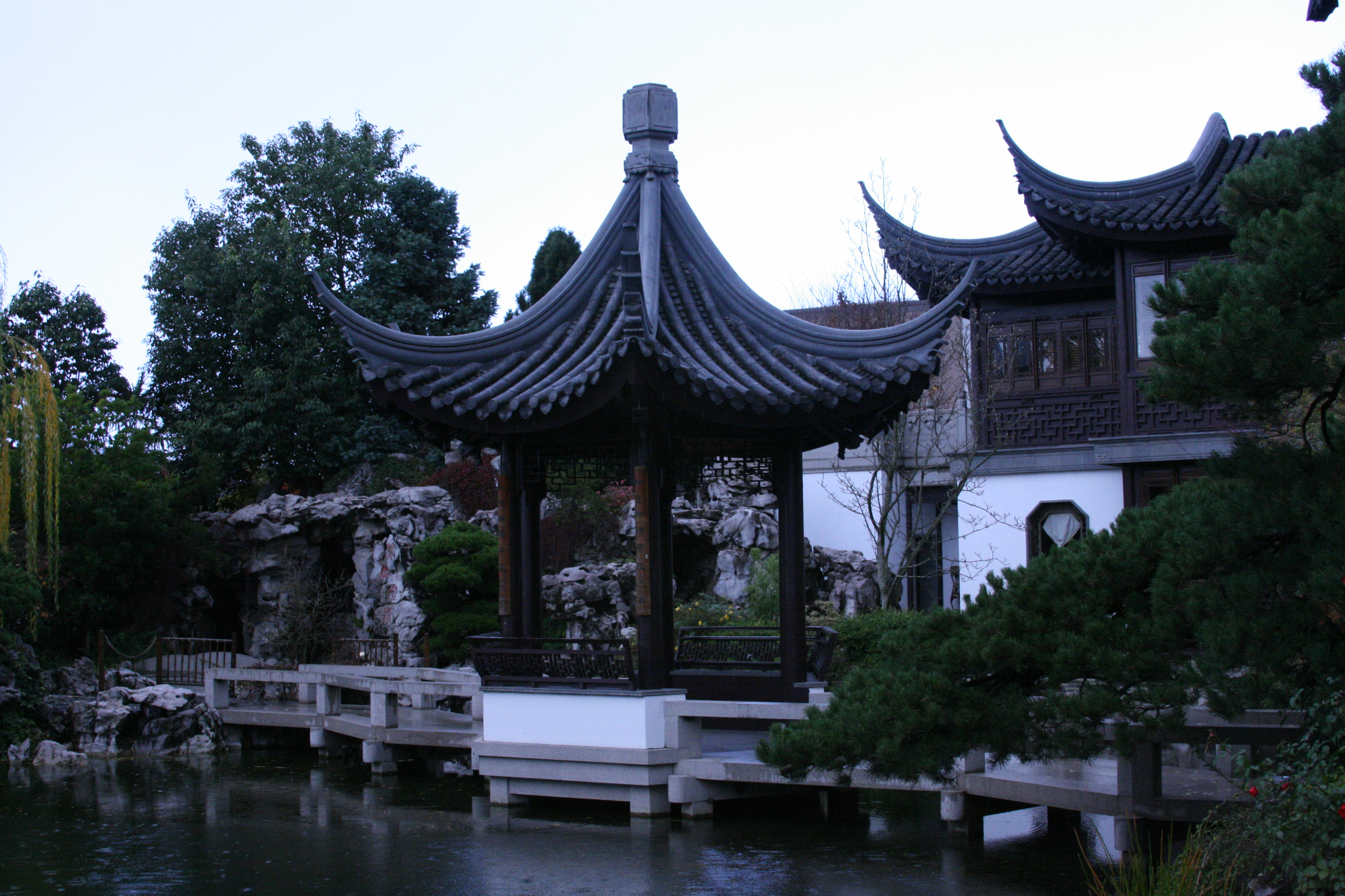 Gazebo and Pond in Chinese Garden