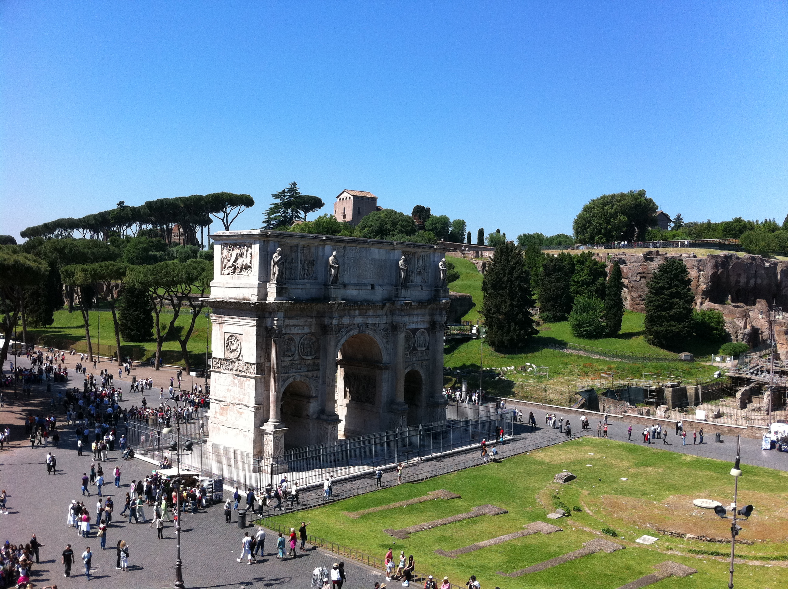 Arch of Constantine from the Colosseum upper level