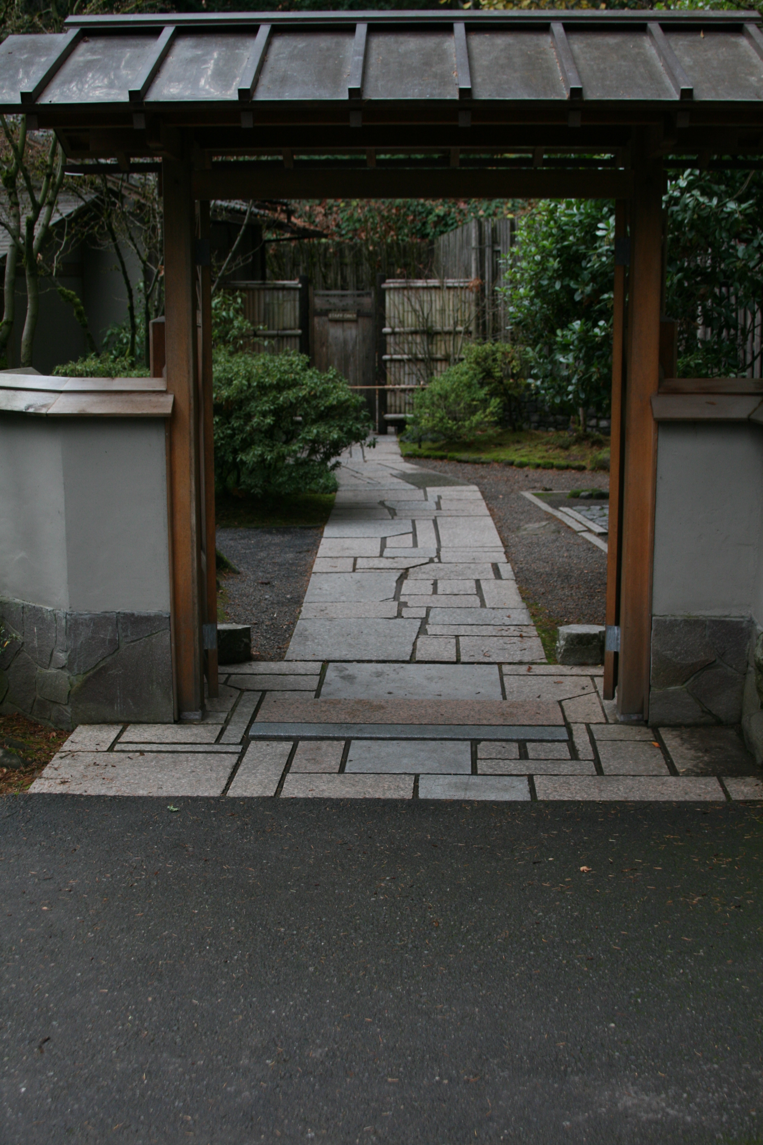 Gate to Tea House in Japanese Garden