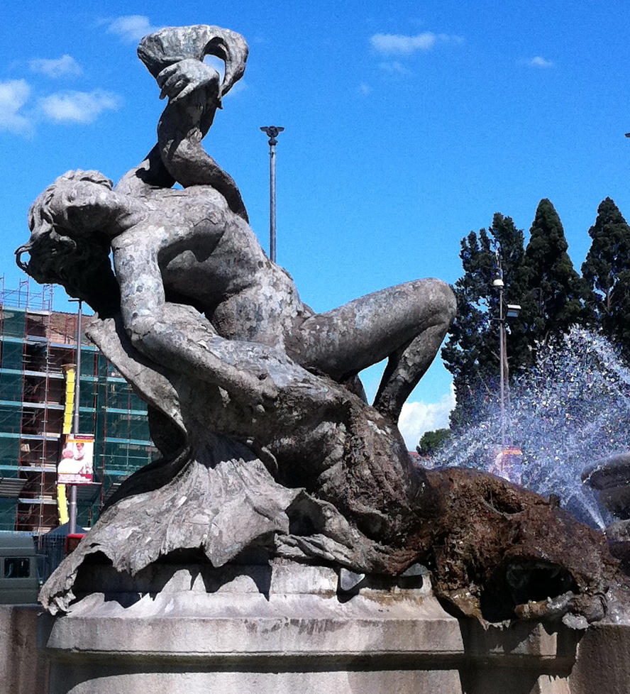 One Naiad at the Fountain in Piazza Repubblica