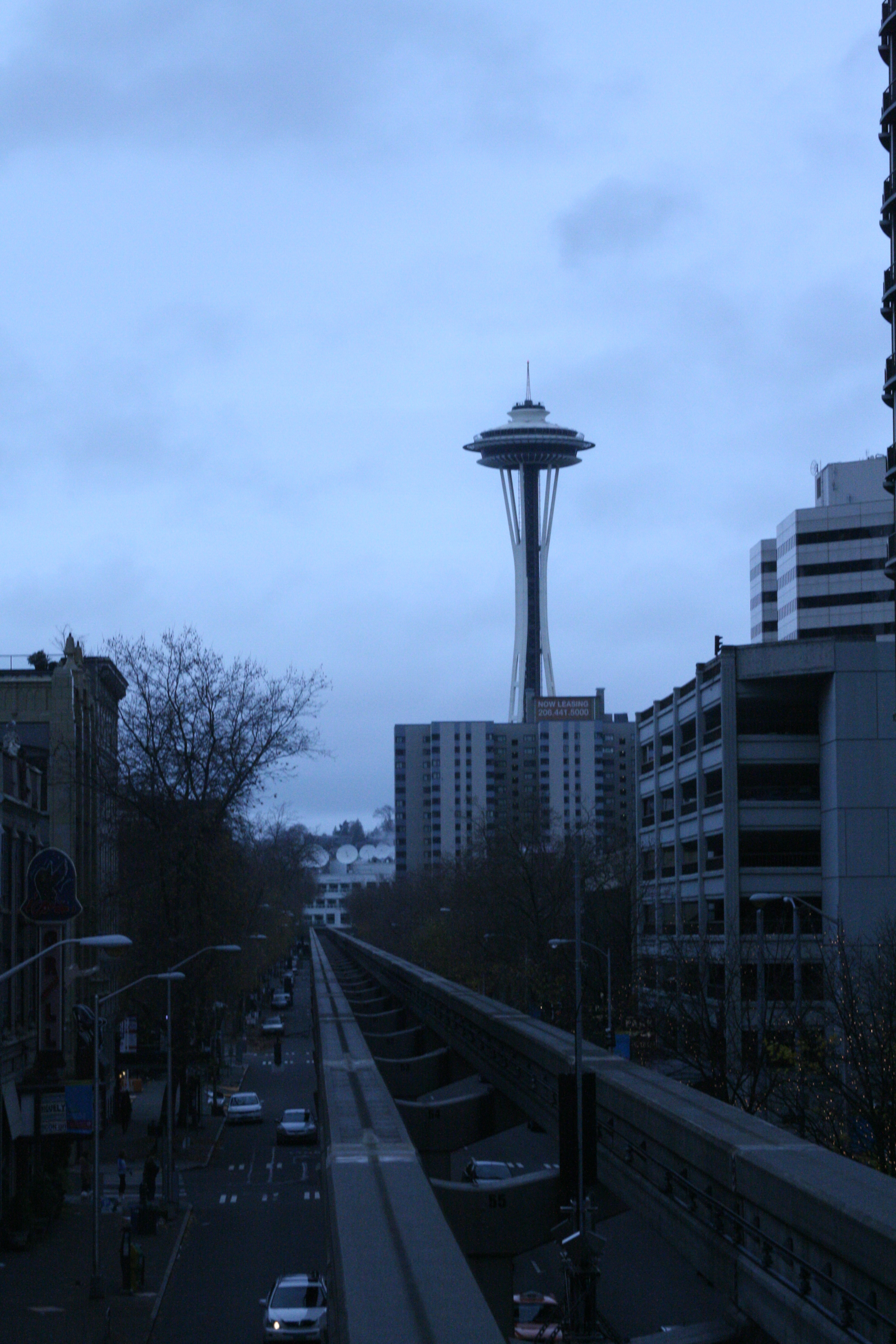 Seattle tower from monorail