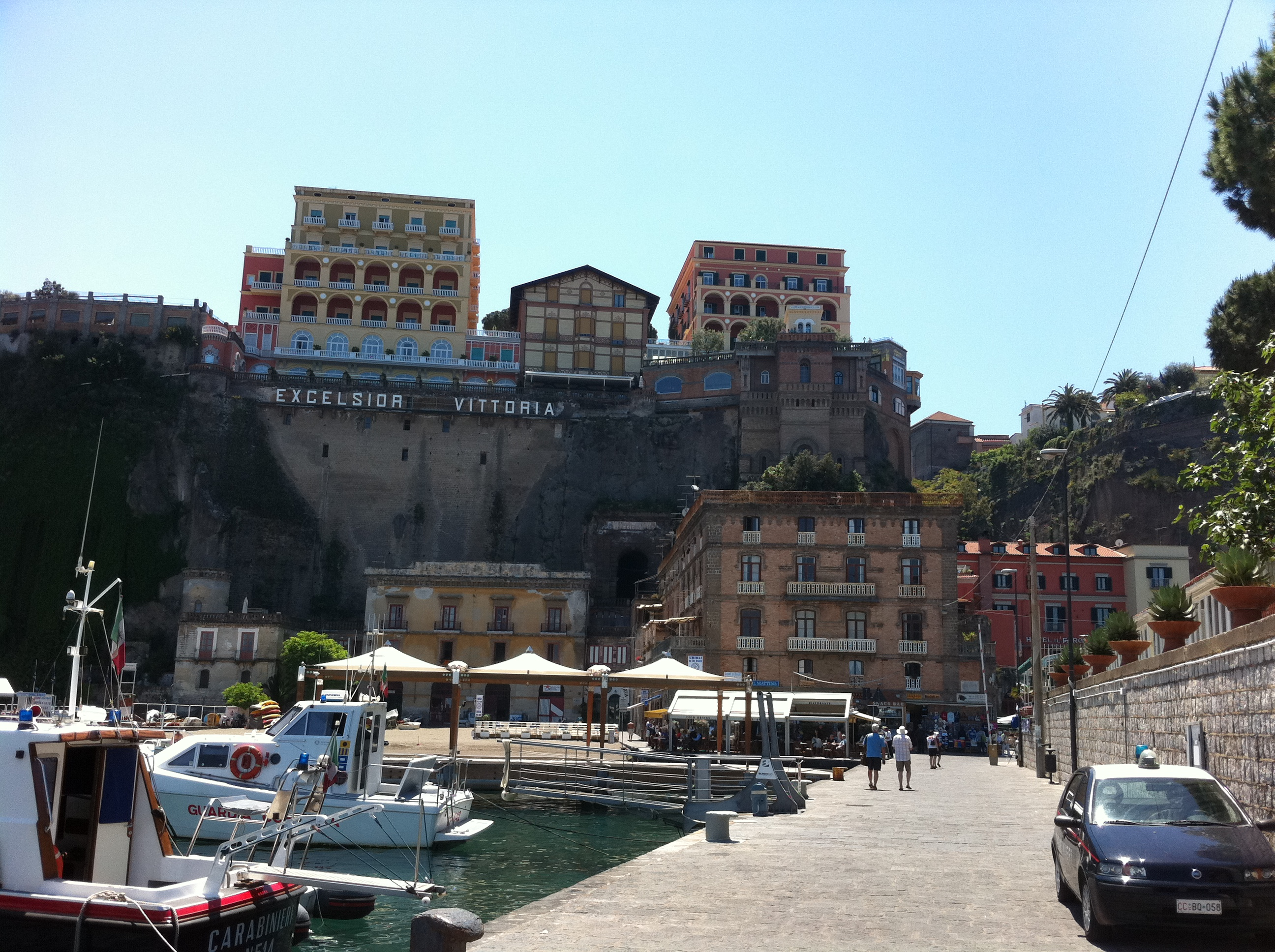 Sorrento on the cliff, from it's Marina Piccolo