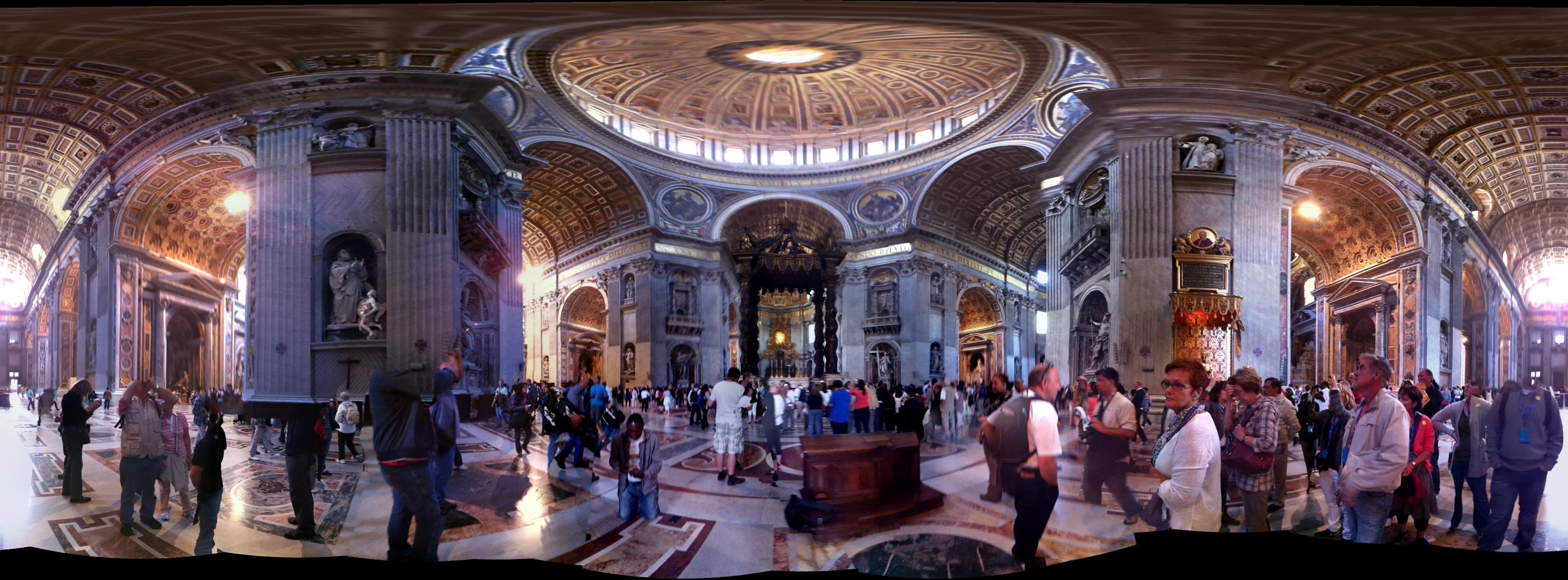 Flattened Panorama of St Peter's Basilica
