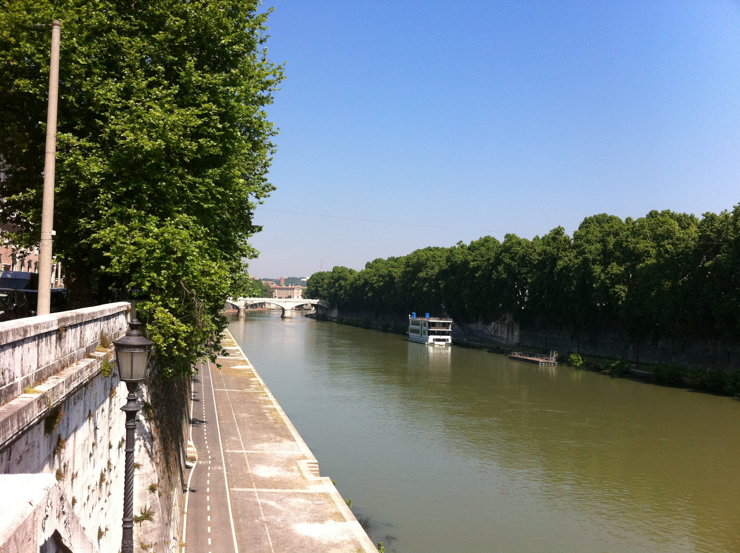 Tiber River from Sisto Bridge