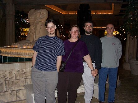 DanB, Erci, Scott, and Mike in the Luxor