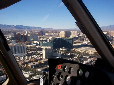 Vegas from a Maverick Tours Helicopter
