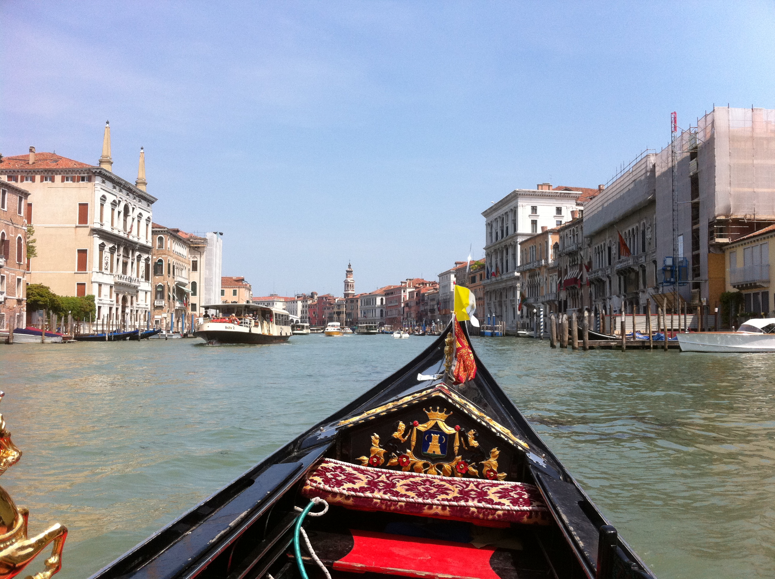 Grand Canal from a gondola, Venice